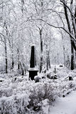 Winter cemetery Stock Images