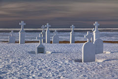 Winter Cemetery Royalty Free Stock Photos
