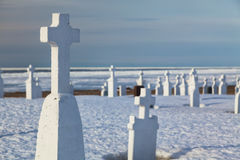 Winter Cemetery Royalty Free Stock Photo