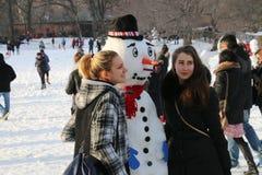 Winter in Central Park Stockfotos
