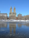 Winter in Central Park. New York. Stock Images