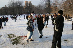 Winter in Central Park Stock Photo