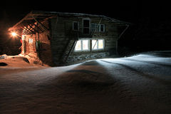 Winter chalet Stock Photos