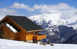 Winter Chalet Stock Images