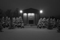 Winter Chapel In Snow Royalty Free Stock Photos