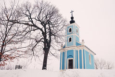Winter Chapel Royalty Free Stock Photography