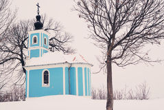 Winter Chapel Stock Photography