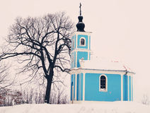 Winter Chapel Royalty Free Stock Images