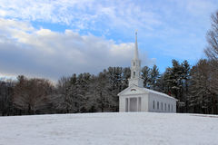 Winter Chapel stock image