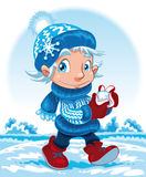 Winter Character Stock Photo