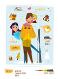 Winter characters set Stock Photography