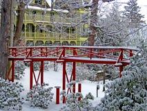 Winter in Chautauqua-Institution Lizenzfreies Stockbild