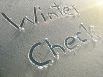 Winter Check Windshield Royalty Free Stock Photography