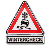 Winter check for your car Stock Photography