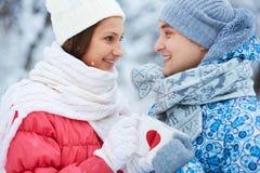 Winter cheers Stock Photo