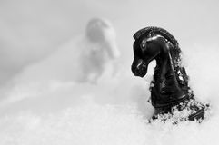 Winter chess Stock Photos