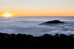 Sea Mist Doi Inthanon stock photography