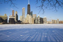 Winter in Chicago Royalty Free Stock Photography