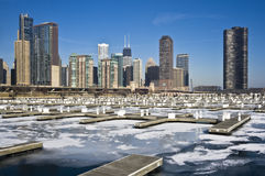 Winter in Chicago. Winter in Downtown Chicago, IL stock image