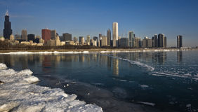 Winter in Chicago. Winter in Downtown Chicago, IL royalty free stock photography