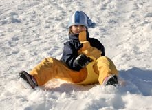 Winter child Royalty Free Stock Image