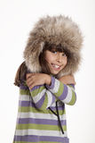 Winter child. Child posing in winter time Royalty Free Stock Photos