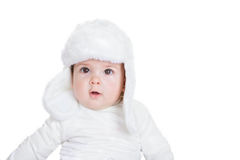 Winter child kid or baby in hat Stock Photography