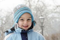 Winter child portrait Royalty Free Stock Image