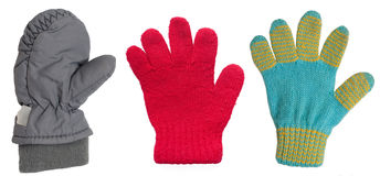 Winter child's mittens Stock Images