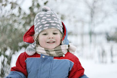 Winter in childhood Stock Images