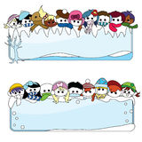 Winter children banner for christmas Stock Photography