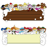 Winter children banner for christmas. To be used as christmas, holidays and winter Stock Photo