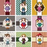 Winter children card Royalty Free Stock Photo