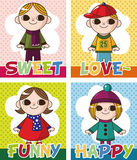 Winter children card Royalty Free Stock Photography