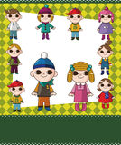 Winter children card Royalty Free Stock Images
