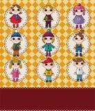 Winter children card Stock Photos