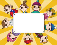 Winter children card Royalty Free Stock Photos