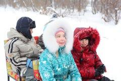 Winter children Stock Images