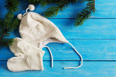 Winter children's clothing Royalty Free Stock Images
