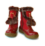 Winter childrens boots Stock Images