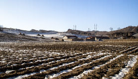 Winter China northern rural areas. Rural China northern winter snow Stock Photography