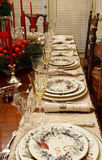 Winter China On Dining Table Royalty Free Stock Photo