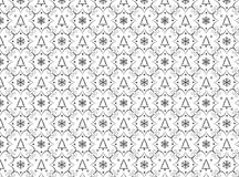 Winter chrismas black and white pattern Royalty Free Stock Photos