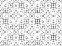 Winter chrismas black and white pattern Royalty Free Stock Photos