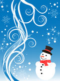 Winter/christmas background. Vector illustration of an abstract christmas background Stock Photography