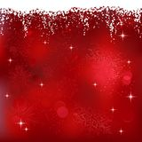 Winter, Christmas Background. Red abstract background with stars and snowflakes. Great for Christmas or winter themes Royalty Free Stock Photos