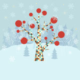 Winter christmas background Stock Images