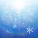 Winter christmas background. Blue with snowflakes, vector Royalty Free Stock Photo