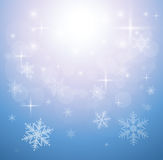 Winter christmas background. Blue with snowflakes, vector Royalty Free Stock Images