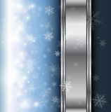 Winter christmas background. Blue with snowflakes, vector Royalty Free Stock Photography